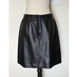 Apostrophe Black Leather Skirt Size 12P